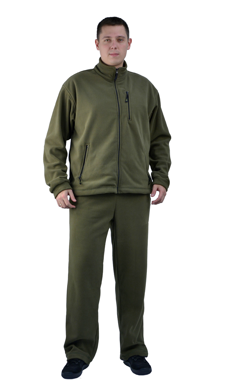 Костюм мужской Sarma Рolartec С 047 олива (48(М))Костюмы флисовые<br>Рolartec - плотность 355 г/м? Куртка - полочки <br>куртки на подкладке; - широкий защитный <br>воротник-стойка; - полная фронтальная застежка <br>молния, два боковых и один нагрудный карман <br>- рукава на эластичной тесьме; - резинка <br>по низу куртки для индивидуальной регулировки <br>Брюки - регулировка пояса при помощи шнурка; <br>- два передних прорезных кармана на молнии.<br><br>Пол: мужской<br>Размер: 48(М)<br>Сезон: демисезонный<br>Цвет: оливковый<br>Материал: Рolartec - плотность 355 г/м?