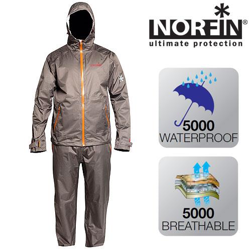 Костюм демисезонный мембранный Norfin Pro Light Костюмы утепленные<br>Костюм идеально подойдет любителям активного <br>отдыха. Материал – легкая тонкая мембранная <br>ткань Nortex Breathable, прекрасно защитит вас от <br>осадков. Все швы качественно проклеены. <br>В сложенном виде костюм занимает очень <br>мало места. В комплект входит куртка и брюки. <br>КУРТКА: - специальный фиксатор, стягивающий <br>низ; - два боковых кармана на влагозащитной <br>молнии; - застегивается на молнию; - усиление <br>материала в районе плечей и в нижней части <br>куртки; - регулируемые манжеты с застежками <br>липучками; - съемный капюшон, имеющий двухуровневую <br>регулировку, что позволяет точно подогнать <br>его под размер головы; - высокий воротник. <br>БРЮКИ: - два боковых кармана на молнии; - <br>пояс на резинке.<br><br>Пол: мужской<br>Размер: XL<br>Сезон: демисезонный<br>Цвет: бежевый<br>Материал: мембрана