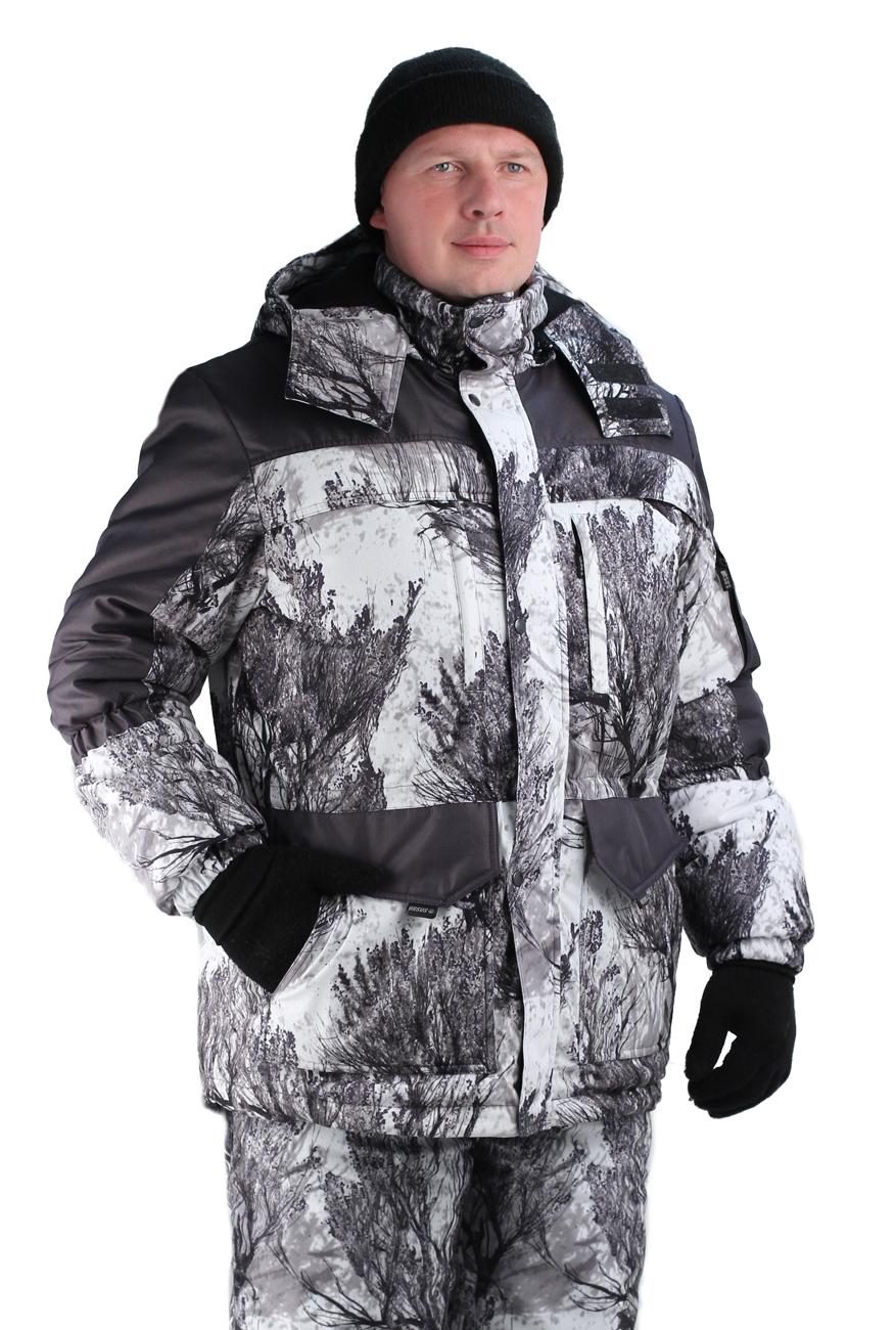 Костюм мужской Nordwig Fox зимний кмф алова Костюмы утепленные<br>Камуфлированный универсальный костюм <br>для охоты, рыбалки и активного отдыха при <br>низких температурах. Состоит из удлиненной <br>куртки и полукомбинезона. Куртка: • Центральная <br>застежка на молнии с ветрозащитной планкой <br>на кнопках. • Отстегивающийся и регулируемый <br>капюшон. • Регулируемая кулиса по линии <br>талии. • Нижние и верхние многофункциональные <br>накладные карманы с клапанами на контактной <br>ленте и на молнии. • Усиление в области <br>локтей. • Трикотажные манжеты по низу рукавов. <br>Полукомбинезон: • Высокая грудка и спинка. <br>• Центральная застежка на молнию. • Талия <br>регулируется эластичной лентой. • Регулируемые <br>бретели, • Верхние боковые карманы • Объемные <br>наколенники • Низ брюк на молнии<br><br>Пол: мужской<br>Размер: 56-58<br>Рост: 182-188<br>Сезон: зима<br>Цвет: серый<br>Материал: Алова (100% полиэстер) пл. 225 г/м.кв - трикот.полотно