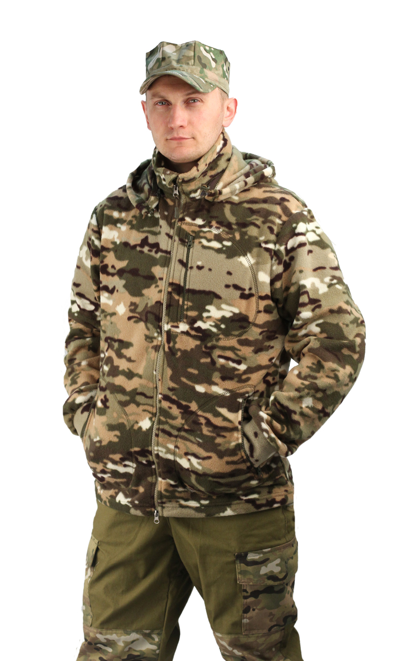 Флисовая мужская куртка Gerkon Picnic кмф цвет Куртки флисовые<br>Модельные особенности: - отстёгивающийся <br>капюшон с регулировкой по овалу лица и объему <br>– прорезные карманы на молнии – регулировка <br>объема по низу куртки<br><br>Пол: мужской<br>Размер: 48-50<br>Рост: 170-176<br>Сезон: демисезонный<br>Материал: Флис (100% полиэфир), пл. 250 г/м2
