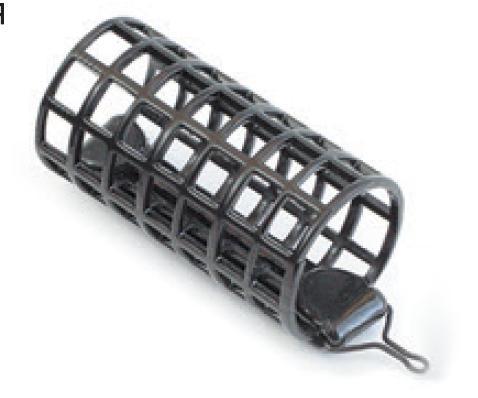 Кормушка фидерная круглая сеч.26мм.дл.50мм.(52гр.) Кормушки, груза, монтажи донные<br>Кормушка выполнена из толстой металлической <br>сетки, что позволяет избежать деформации <br>кормушки в процессе ловли. Применена технология <br>порошкого напыления, стойкого к истиранию <br>и ударам.<br>
