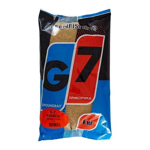 Прикормка Gf G-7 Карась 1КгПрикормки<br>Прикормка GF G-7 КАРАСЬ 1кг пакет 1кг/ароматика:специальная/цвет:светлый/кратн. <br>короба 16шт. «G-7» - Новая линия недорогих <br>и качественных ароматизированных прикормов, <br>имеет сбалансированный состав, отличную <br>ароматизацию и самые популярные у рыболовов <br>ароматы. Идеально подходит для использования <br>на не запрессованных водоемах, где не имеет <br>смысла переплачивать за дорогие добавки <br>и ингредиенты. Рекомендуется использовать <br>как отличное дополнение к «старшим» сериям, <br>таким как GF, Salapin, Prime и Energy.<br><br>Сезон: лето