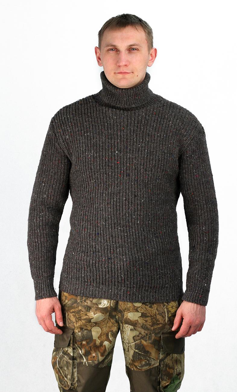 Свитер рыбака (52-54)Свитера<br>высокий двойной воротник Ткань: 30% шерсть, <br>70% акрил Размеры: 48-62 ГОСТ Р 53147-2008<br><br>Пол: мужской<br>Размер: 52-54<br>Сезон: зима<br>Цвет: серый