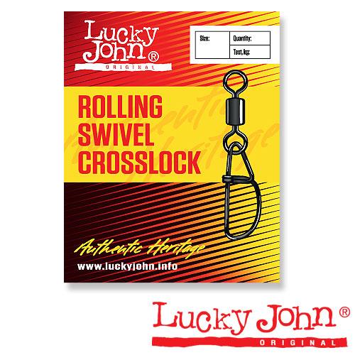 Вертлюги C Застежкой Lucky John Rolling And Crosslock 012 10Шт. LJ5057-012