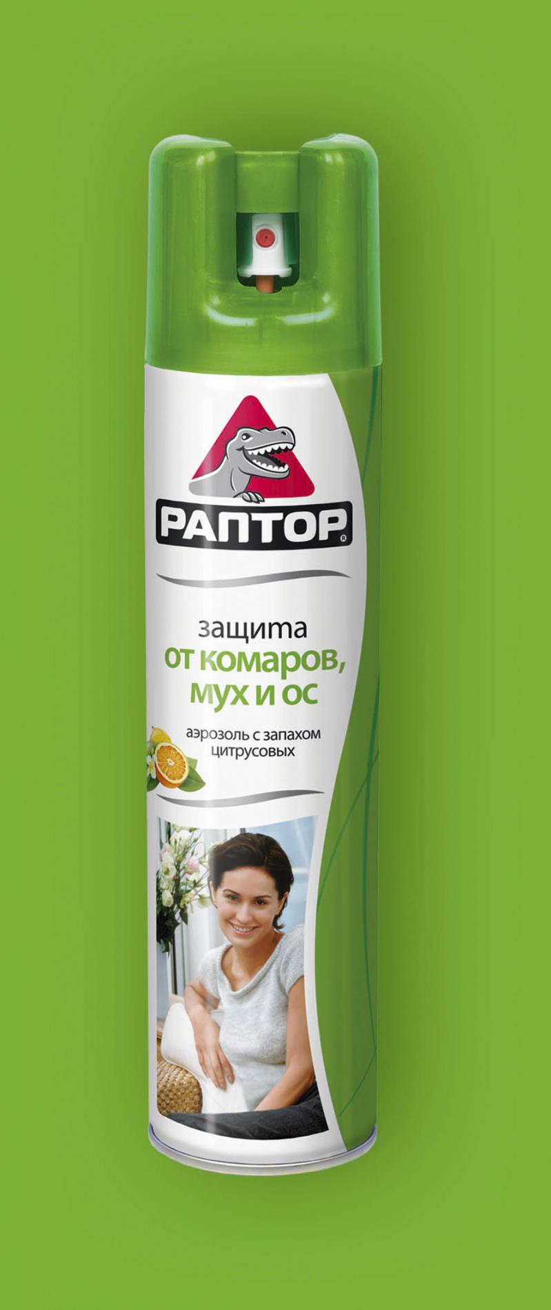 Аэрозоль РАПТОР от летающих насекомых РЕПЕЛЛЕНТЫ И ИНСЕКТИЦИДЫ<br>Это самый удобный способ в считанные минуты <br>очистить комнату не только от комаров, но <br>и от других насекомых – мух, моли и даже <br>ос. Кроме того, аэрозоль имеет приятный <br>цитрусовый аромат. Теперь проблема непрошенных <br>гостей решена быстро и легко! 275 МЛ<br>