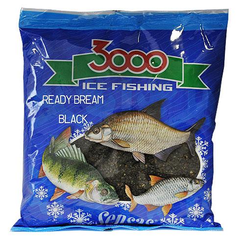 Прикормка Зим. Готовая Sensas 3000 Bream Black 0.5Кг 01032
