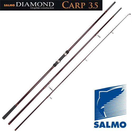 Удилище Карповое Salmo Diamond Carp 3.50Lb/3.90Удилища карповые<br>Удилище карп. Salmo Diamond CARP 3.50lb/3.90 дл.3.90м/тест <br>3.5lb/435г Трехколенное карповое удилище, среднего <br>строя, с бланком из графита IM7 с достаточной <br>жесткостью и хорошей посылистостью. Удилище <br>имеет: усиленные кольца и тюльпан со вставками <br>SIC, разнесенную рукоятку с неопреновыми <br>ручками и надежный винтовой катушкодержатель. <br>Из-за небольших габаритов удобно для перевозки. <br>Этими карповыми удилищами можно забрасывать <br>приманки весом до 135 г. Материал бланка удилища <br>– углеволокно (IM7) Строй бланка средний <br>Конструкция штекерная Соединение колен <br>типа OVER STEEK Кольца пропускные: – усиленные <br>двухопорные – со вставками SIC Рукоятка: <br>– неопреновая – разнесенная Катушкодержатель <br>винтового типа<br><br>Сезон: лето