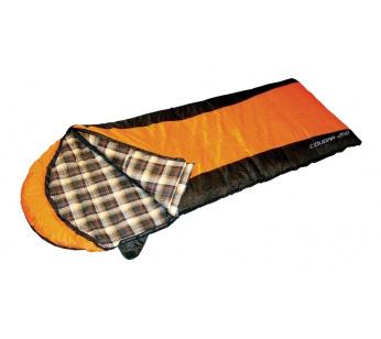 Спальный мешок COUGAR 250 L-zip от 2 град.(одеяло+подголовник)Спальники<br><br><br>Сезон: все сезоны<br>Цвет: оранжевый