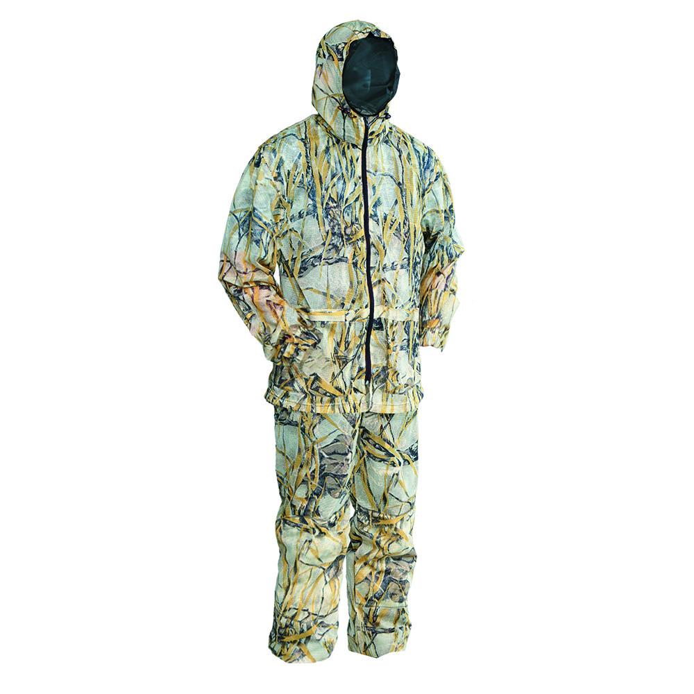 Костюм ХСН «Снайпер» маскировочный (9509-3) Костюмы маскировочные<br>Костюм выполнен из трикотажного синтетического <br>полотна «сетка». Одевается сверху на любой <br>вид одежды и обеспечивает маскировку в <br>лесу. Особенности: - эластичные манжеты <br>на рукавах и штанинах; - утягивающийся капюшон; <br>- маскировочная сетка; - регулируемые подтяжки; <br>- удобные карманы, обеспечивающие доступ <br>к одежде; - мешок для хранения и транспортировки; <br>- усиленные вставки на локтях и коленях.<br><br>Пол: мужской<br>Размер: 46 - 48 / 176<br>Сезон: лето<br>Цвет: коричневый<br>Материал: Ткань-сетка