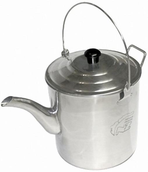 Чайник N.Z. костровой нерж. 2 л.Чайники<br>Эстетичный чайник для кипячения воды на <br>костре. Имеет удобные складные ручки и правиль <br>ную форму носика для разливания по чашкам. <br>Подойдет небольшой компании чаеманов для <br>использования на стоянке в лесной зоне. <br>Тонкостенная, пищевая нержавейка, из которой <br>он сделан, обеспечивает достаточную прочность <br>изделия и быстрое закипание воды. Чайник <br>упаковывается в саженепроницаемый удобный, <br>яркий чехол с ручками. Объем мл Вес 440 г. <br>Объем 2,0 литр Габариты 150х150х220 Материал <br>Нержавеющая сталь<br>