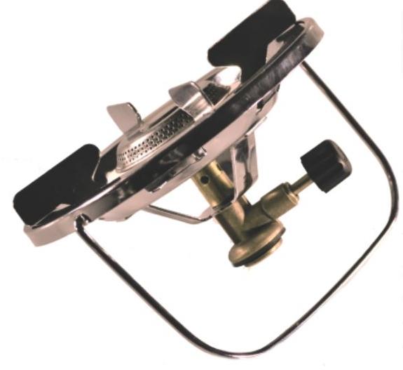 Горелка газовая СЛЕДОПЫТ Горящая ЧашаГорелки<br>Практичная, надежная и предельно простая <br>в обращении газовая горелка. Имеет усиленный <br>монолитный каркас и дополнительные ребра <br>жесткости. Хорошо подходит для посуды с <br>диаметром варочной поверхности до 25 см. <br>При этом нагрузка на поверхность плиты <br>может достигать 20 кг. и ограничивается только <br>допустимой предельной грузоподъемностью <br>газовых баллонов на которые плита установлена. <br>Сама горелка развивает мощность порядка <br>1,5 кВт. И благодаря своим характеристикам <br>может быть использована для приготовления <br>пищи для небольших группах путешественников <br>(до 5-ти – 6-ти человек). Для питания плиты <br>используются газовые смеси в баллонах FG-230 <br>и FG-450 с резьбовым клапаном, а также баллоны <br>FG-220 нажимного типа с цанговым патроном <br>используя переходник PF-GSA-02 (поставляется <br>отдельно). Для розжига горелки вы можете <br>использовать спички, зажигалку или автономный <br>пьезоэлектрический розжиг. ХАРАКТЕРИСТИКИ: <br>Мощность горелки: 1,5 кВт. Диаметр горелки: <br>50 см. Вес горелки: 295 гр. Размер в походном <br>положении: 160 х 170 х 100 мм. Макс. диаметр используемой <br>посуды: 250 мм. Максимальная вертикальная <br>нагрузка: 5 кг (5 л. воды).<br>