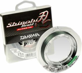 Леска плетеная DAIWA Shinobi Braid - Y 0,28мм 135м (флуор.-желтая)Леска плетеная<br>» Оптимальное соотношение цена-качество <br>» Производится из материала Dyneema » Невероятная <br>мягкость и малый диаметр благодаря применению <br>технологии плетения Tight-pitch » Размотка: 135м <br>» Поставляется в упаковке нового образца <br>с возможностью регулировки силы натяжения <br>при намотке » Цвет: темно-зеленый/флуоресцентно-желтый<br>
