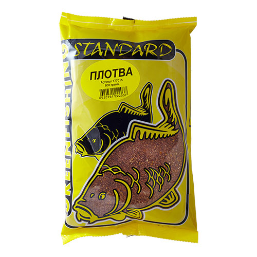 Прикормка Gf Standard Плотва 0.800КгПрикормки<br>Прикормка GF Standard ПЛОТВА 0.800кг пакет 0,8кг/ароматика: <br>анис/цвет: коричневый/смесь Прикормки ТМ <br>Greenfishing серия STANDARD – покупатель получает <br>продукт высокого качества за небольшую <br>стоимость, в основе прикормки: высококачественные <br>бисквиты, кондитерские ингредиенты, печенье, <br>масленичные зерновые, импортные ароматизаторы. <br>Фракция прикормки однородная, что является <br>плюсом в приманивании рыбы, с хорошим пофракционным <br>распадом.<br><br>Сезон: лето