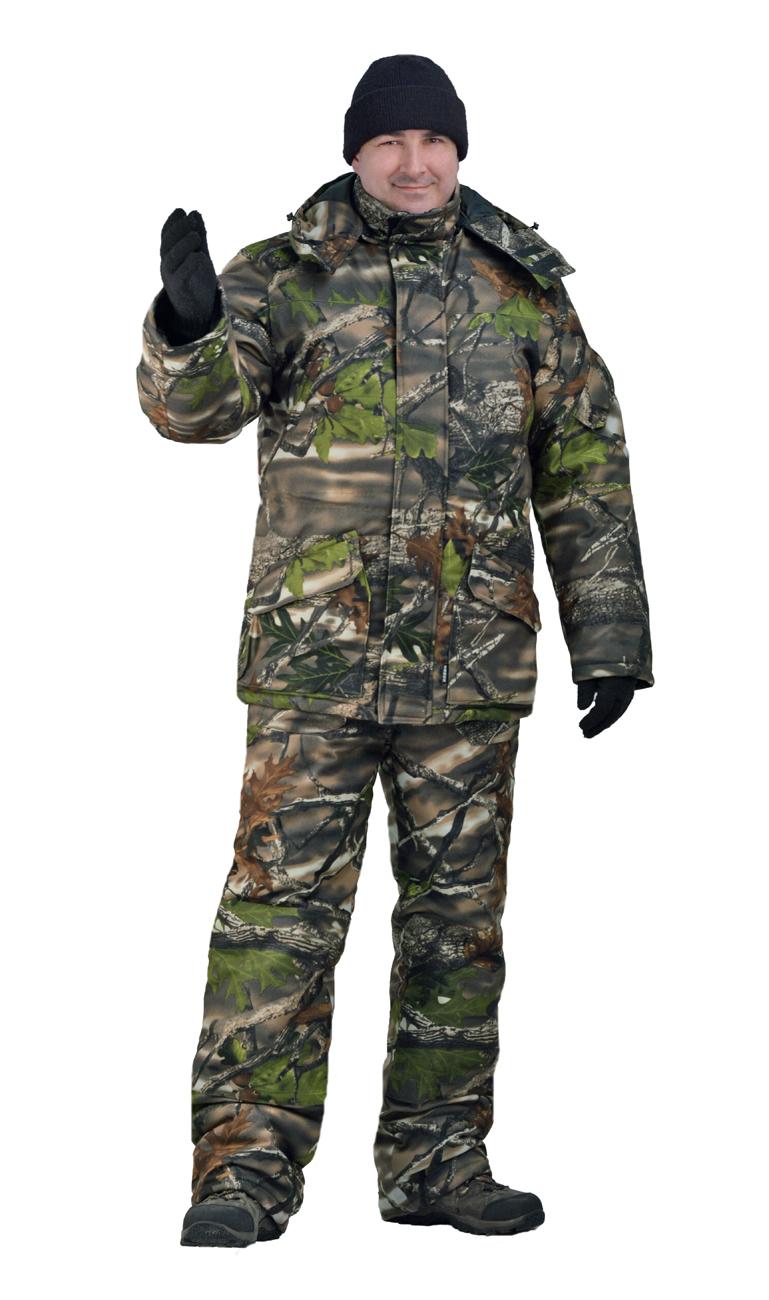 Костюм мужской Nordwig Буран зимний кмф т.Алова Костюмы утепленные<br>Камуфлированный универсальный костюм <br>для охоты, рыбалки и активного отдыха при <br>низких температурах. Не шуршит. Состоит <br>из удлинненной куртки с капюшоном и полукомбинезона. <br>Куртка: • Отстегивающийся и регулируемый <br>капюшон. • Центральная застежка молния <br>с ветрозащитной планкой и контактной лентой. <br>• Прорезные нагрудные карманы • Нижние <br>накладные карманы полупортфель, антивор <br>• Внутренние трикотажные манжеты- напульсники <br>Полукомбинезон: • Закрывает грудь и спину. <br>• Застежка с двухзамковой молнией. • Боковые <br>карманы полупортфель. • Бретели регулируемые. <br>• Талия регулируется резинкой Синтепон <br>100г/м2 - 4 слоя в куртке, 3 слоя в полукомбинезоне.<br><br>Пол: мужской<br>Сезон: зима<br>Материал: Алова 100% полиэстер