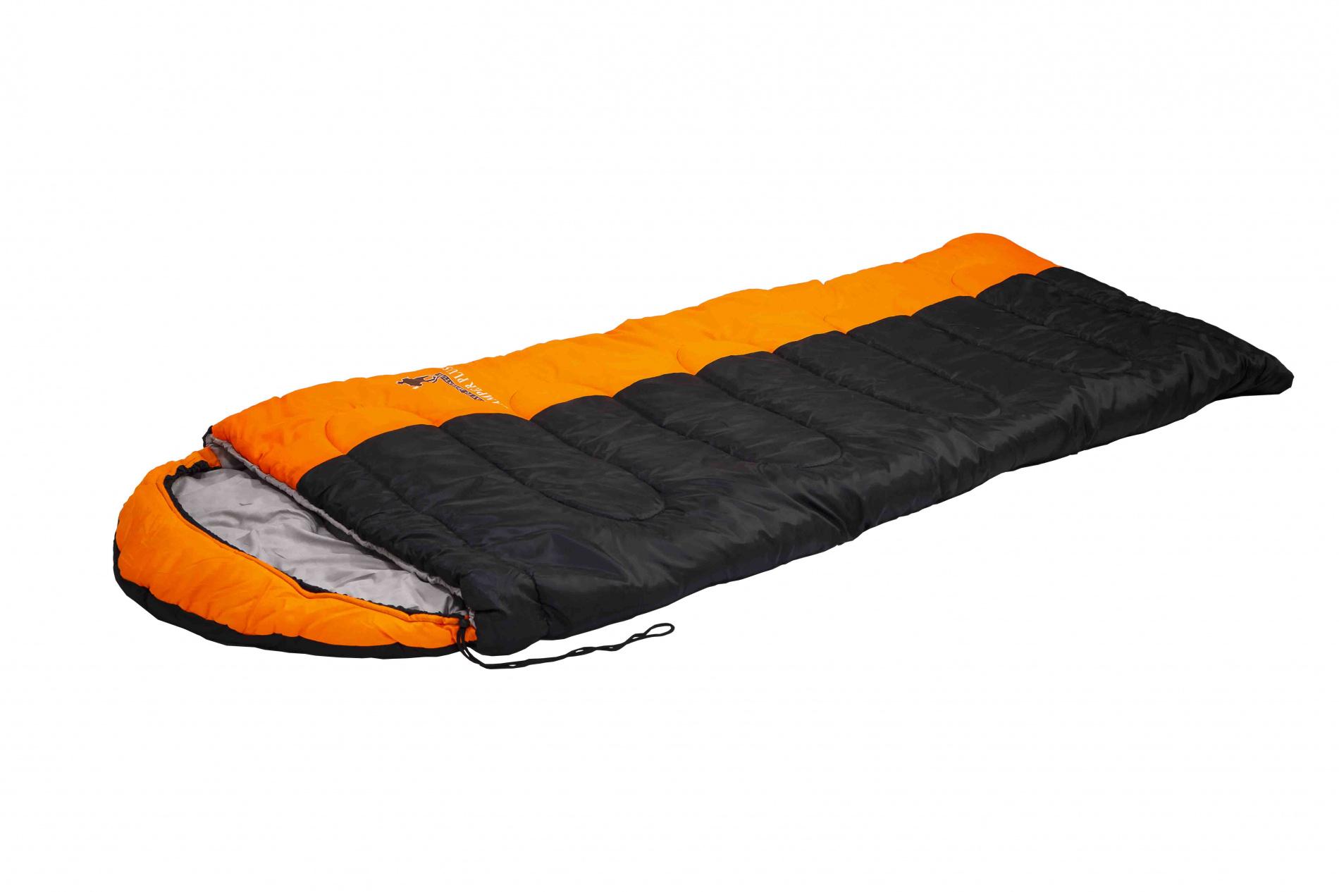 Спальный мешок CAMPER PLUS L-zip от -12 C (одеяло Спальники<br>Спальный мешок CAMPER PLUS L-zip от -12 C (одеяло <br>с подголов 195+35X90 см)<br>Просторный спальник Indiana Camper Plus – одеяло <br>с капюшоном-подголовником, выпускающийся <br>как с левой, так и с правой молнией. Благодаря <br>этому два спальника этой модели можно состегивать <br>друг с другом. Данный спальник имеет увеличенное <br>количество утеплителя, что раздвигает температурные <br>режимы его использования. Увеличенные размеры <br>спального мешка и его температурные режимы <br>обеспечат вам комфортный отдых во время <br>вашего пребывания на природе. <br>Характеристики<br>Внешний материал: Полиэстер<br>Внутренний материал: Поликоттон<br>Утеплитель: Hollowfiber<br>Особенности: Молния слева<br>Вес: 2.2 кг<br>Размер: 230x90 см <br>Цвет: Черный/Оранжевый<br><br>Сезон: зима