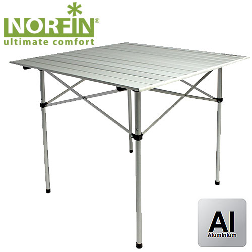 NORFIN Стол складной Glomma-S Nf Алюминиевый 70X70 NF-20302