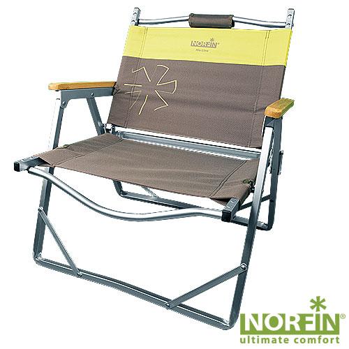 Кресло складное Norfin Alesund Nf AluСтулья, кресла<br>Складное кресло - прекрасный выбор для <br>ценящих комфорт рыбаков. Передние ножки <br>с возможностью регулировки высоты, деревянные <br>подлокотники. Очень удобно для переноски, <br>так как в складном виде имеет ручки. Особенности: <br>- габариты 54х47х28/62 см; - размер в сложенном <br>виде 54x57x7 см; - максимальная нагрузка 100 кг; <br>- каркас алюминий 20х14 мм.<br><br>Сезон: лето<br>Цвет: коричневый<br>Материал: 600D polyester