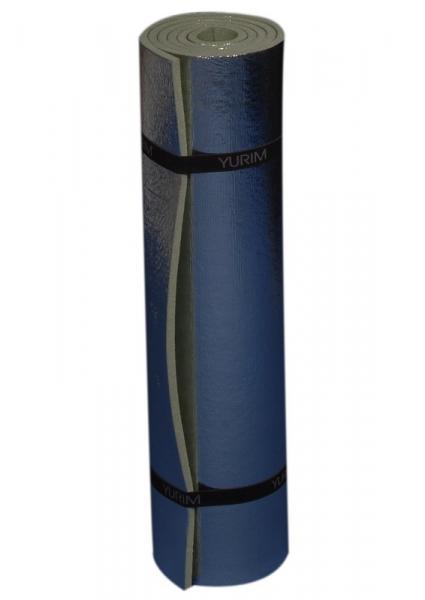 Коврик YURIM тур. 7106 (1800х600х10мм, однослойн., Коврики туристические<br>размер: 1800 Х 600 Х 10 мм вес: 380 г Легкий и удобный <br>туристический коврик. Отражающий эффект <br>металлизированного слоя позволяет увеличить <br>термоизоляционные свойства коврика без <br>увеличения толщины материала.<br>