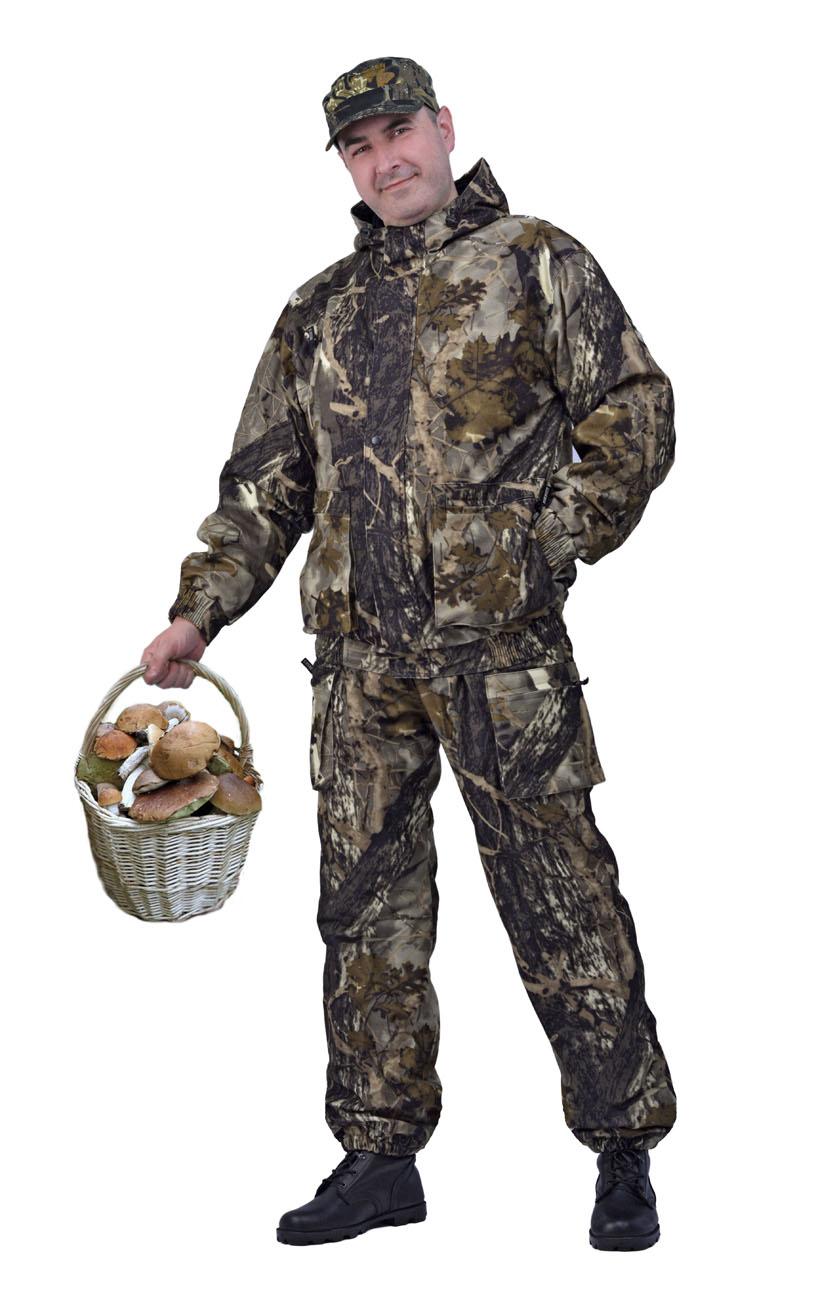 Костюм мужской Турист 2 демисезонный кмф Костюмы неутепленные<br>Камуфлированный универсальный демисезонный <br>костюм для охоты, рыбалки и активного отдыха. <br>Состоит из укороченной куртки с капюшоном <br>и брюк Куртка: • Регулируемый капюшон - <br>воротник на флисе. • Центральная застежка <br>молния закрыта ветрозащитной планкой на <br>кнопках. • Нижние объемные и верхние карманы <br>на молнии, • Низ куртки и манжеты на широкой <br>резинке. Брюки • Высокая спинка с эластичными <br>бретелями • Застежка на молнию. пояс на <br>кнопках. • Два верхних прорезных кармана <br>и два накладных боковых на молнии. • Талия <br>регулируется резинкой. • Низ брюк на резинке.<br><br>Пол: мужской<br>Размер: 48-50<br>Рост: 170-176<br>Сезон: лето<br>Цвет: коричневый<br>Материал: Алова (100% полиэстер) пл. 225 г/м.кв - трикот.полотно
