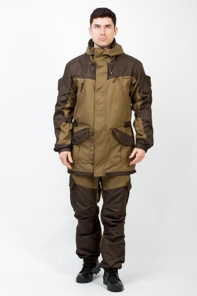 Костюм утепленный из мембранной ткани. Состоит из куртки и полукомбинезона. Ткань костюма