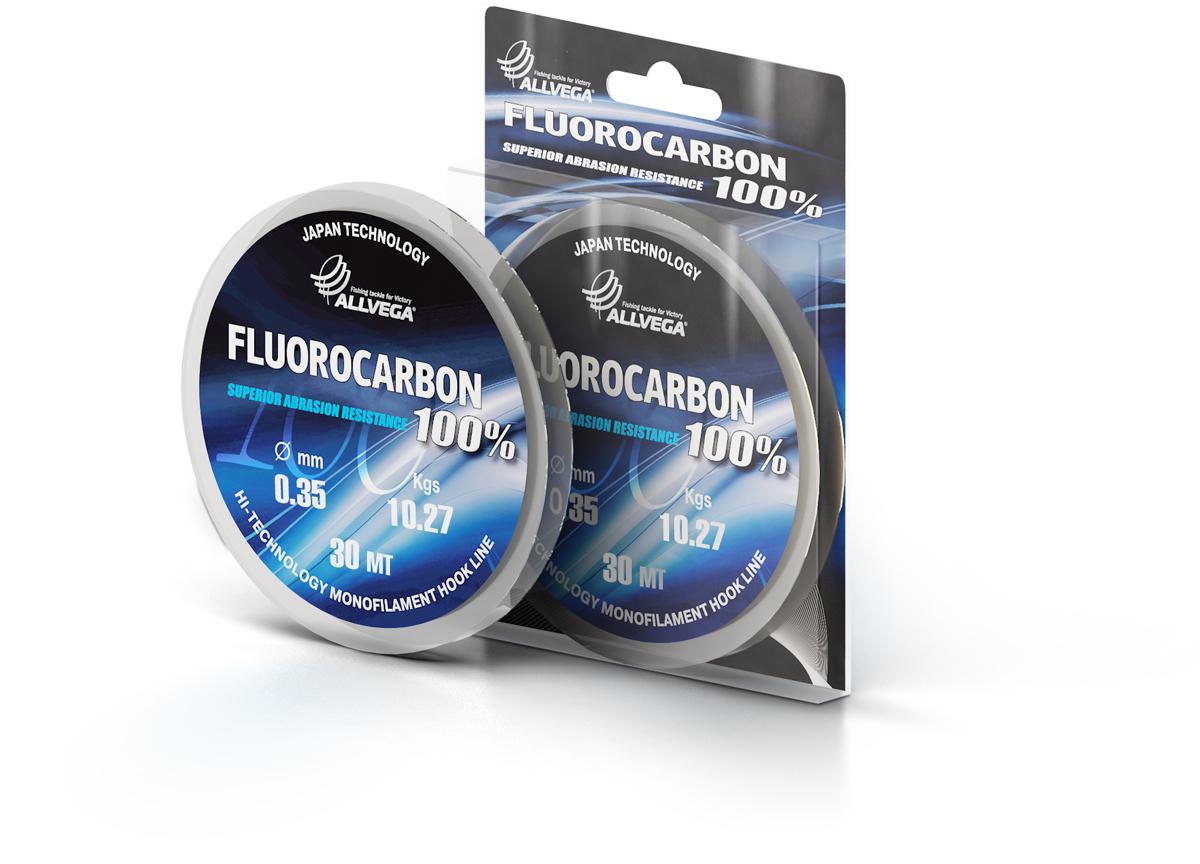 Леска ALLVEGA FX FLUOROCARBON 100% 0.35мм (30м) (10,27кг)Леска монофильная флюорокарбоновая<br>100 % флюрокарбон. Имеет коэффициент преломления <br>света, близкий к коэффициенту преломления <br>света воды, поэтому эта леска незаметна <br>в воде и незаменима во многих случаях. Широко <br>используется в качестве поводковой лески, <br>как для мирных рыб, так и для хищников. Кроме <br>прозрачности, так же обладает высокой устойчивостью <br>к внешним механическим воздействиям, таким <br>как камни, песок, ракушечник, зубы хищников. <br>Обладает малой растяжимостью, что позволяет <br>более четко определять поклевку и просекать <br>рыбу.<br><br>Сезон: лето