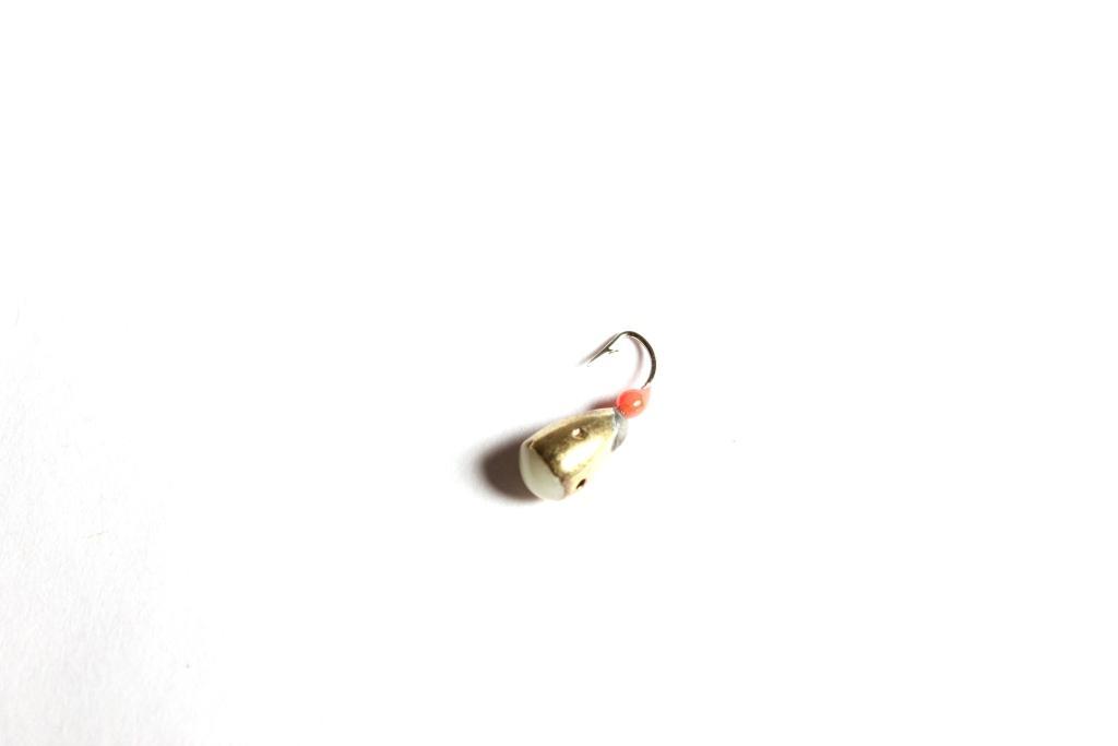 Морм. Вольф.Dixxon-Rus капля с отверстием и Мормышки<br>Мормышка вольфрамовая для подледной ловли. <br>Крючок - FUDO (Япония) Вес - 1,55 г Цвет - золото<br>