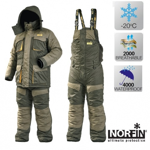 Kостюм зимний Norfin ActiveКостюмы утепленные<br>Костюм зимний Norfin Active. Комплект из куртки <br>и полукомбинезона. Универсальный костюм, <br>который выделяется своей легкостью и мобильностью. <br>Предназначен как для зимней рыбной ловли <br>так и для межсезонья, особенно поздной осенью, <br>кагда в лодке или на берегу замерзаешь даже <br>больше чем на льду. Костюм рассчитан на <br>обеспечение комфорта, свободы движения <br>и теплоты при температуре до -20°С. • Материал <br>NORTEX BREATHHABLE • Водонепроницаемость, мм: 4 000 <br>• «Дышащая» способность материала, г. кв. <br>м/24 час: 2 000 • Утеплитель: Fleece (Флис) Thermo Guard <br>(100% полиэстер )<br><br>Пол: мужской<br>Размер: S<br>Сезон: зима<br>Цвет: оливковый