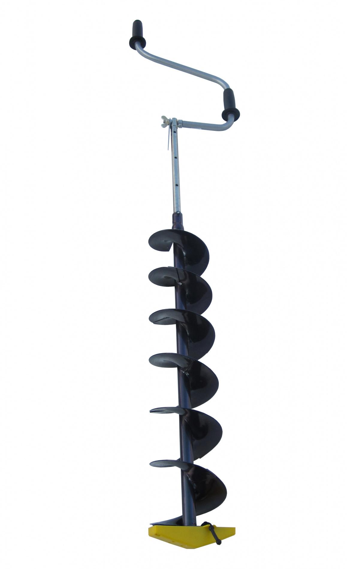 Ледобур Торнадо-М2( диаметр 130)Ледобуры ручные<br>Ледобуры ТОРНАДО-М2 - это модернизированный <br>вариант уже хорошо зарекомендовавшего <br>себя ледобура «ТОРНАДО-М». Главное новшество <br>в ледобуре - это усиленный винт-барашек <br>с измененным шагом резьбы для более плотной <br>фиксации ручки ледобура, что позволило <br>полностью исключить самопроизвольное откручивание <br>винта-барашка и ослабление замка. Ледобуры <br>ТОРНАДО-М2 гарантируют высокую скорость <br>бурения лунок. По сравнению с классическими <br>ледобурами шаг витков шнека увеличен на <br>10 %, что обеспечивает более быстрое освобождение <br>лунки от шуги и снижает усилие бурения. <br>Телескопическая штанга-удлинитель позволяет <br>ступенчато увеличивать глубину бурения <br>при необходимости. Ручки выполнены из мягкого <br>пластика, который остается приятным на <br>ощупь даже в сильные морозы. Яркая оригинальная <br>окраска хамелеон имеет привлекательный <br>вид, а также является надежным полимерным <br>покрытием, стойким к резким перепадам температур. <br>В стандартную комплектацию также входит <br>полноразмерный чехол с карманом, выполненный <br>из высокопрочной ткани Оxford 600D. К ледобурам <br>ТОРНАДО-М2 можно докупить следующие опции: <br>- Адаптер ледобура под шуруповерт АШ-800 (Торнадо), <br>который позволяет присоединить аккумуляторную <br>дрель-шуруповёрт к шнеку ледобура, - Удлинитель <br>ледобура Торнадо-М УДТ-500, который служит <br>для увеличения глубины бурения льда толщиной <br>до 2 метров. Диаметр бурения - 130 мм. Глубина <br>бурения - до 1430 мм. Длина в рабочем положении <br>- 1300 - 1900 мм. Длина в сложенном положении <br>- 860 мм. Масса без чехла не более - 3,12 кг.<br>
