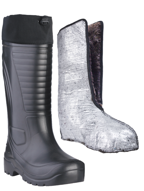 Сапоги ЭВА мужские зимние Nord (SARDONIX) -60С, Сапоги<br>Сапоги выполнены из современного материала <br>ЭВА. Обладают высокой степенью теплоизоляции-сохраняют <br>тепло при морозе до -60 С, защищают от проникновения <br>влаги, Легче аналогов из ПВХ на 40%-вес 1-ой <br>пары 700 гр.Обеспечивают безупречный комфорт <br>при ходьбе. Комплектуются 2-х сл. вкладными <br>утеплителями из фольгированного нетканого <br>ворсового полотна и искусственного меха <br>с добавлением натуральной шерсти , надставкой <br>из плотной водоотталкивающей ткани Оксфорд. <br>Область применения достаточно широка: от <br>обуви для зимней рыбалки и охоты до рабочей <br>обуви, не связанной с агрессивными средами. <br>Высота сапог: 40см.<br><br>Пол: мужской<br>Размер: 42-43<br>Сезон: зима<br>Цвет: черный<br>Материал: этилвинилацетат (ЭВА), упругий, эластичный,