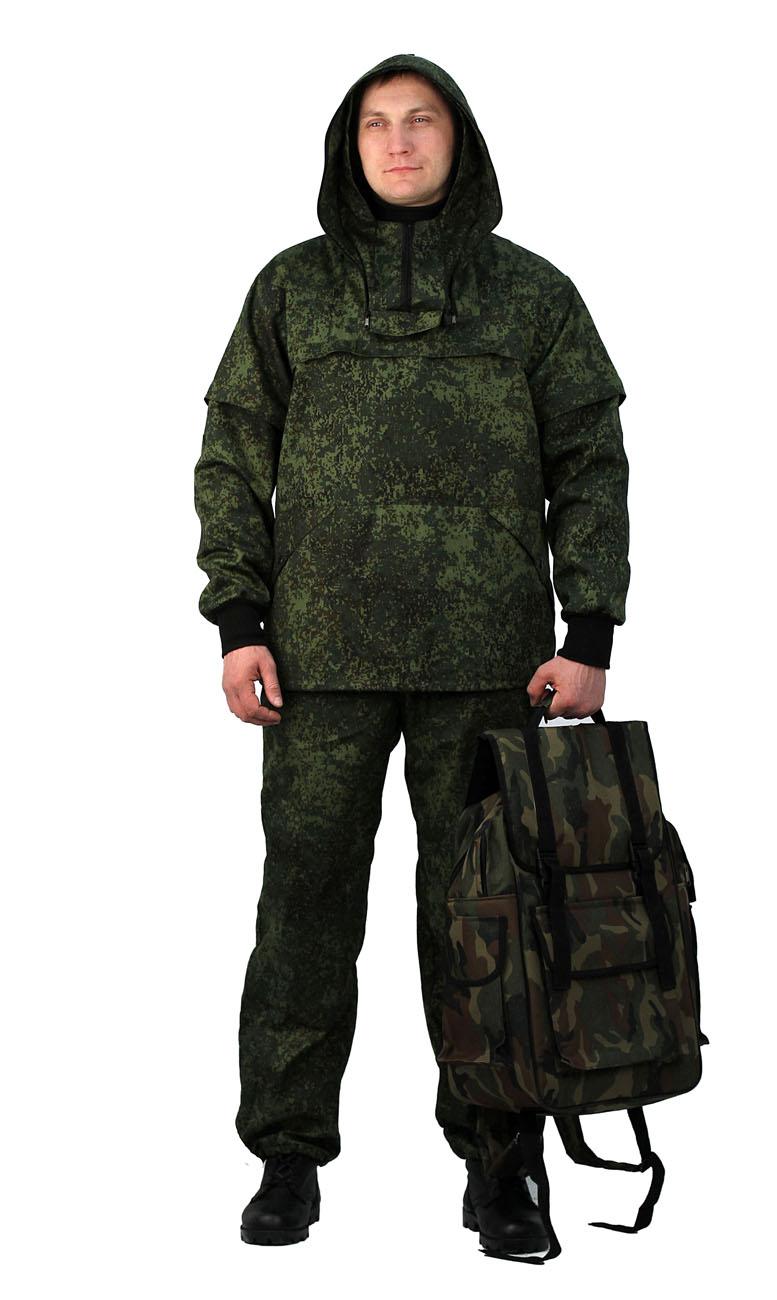 Костюм противоэнцефалитный летний, тк. Костюмы противоэнцефалитные<br>Костюм состоит из куртки и брюк Куртка <br>- с регулируемым капюшоном , - со съемной <br>вставкой из противомоскитной сетки на молнии, <br>- с накладными карманами с клапаном на кнопках. <br>- складки-ловушки на груди и рукавах - рукава <br>с трикотажными напульсниками. - с налокотниками. <br>- низ куртки на эластичной резинке с фиксатором <br>Брюки - прямые с эластичной лентой в притачном <br>поясе со шлевками, - верхними внутренними <br>карманами на кнопках. - с эластичным шнуром <br>на фиксаторе по низу брюк. - с наколенниками<br><br>Пол: мужской<br>Размер: 48-50<br>Рост: 182-188<br>Сезон: лето<br>Цвет: зеленый