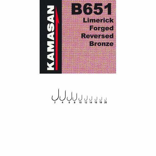 Крючки Kamasan Сер.в 651 Разм.020 10Шт. B651-020
