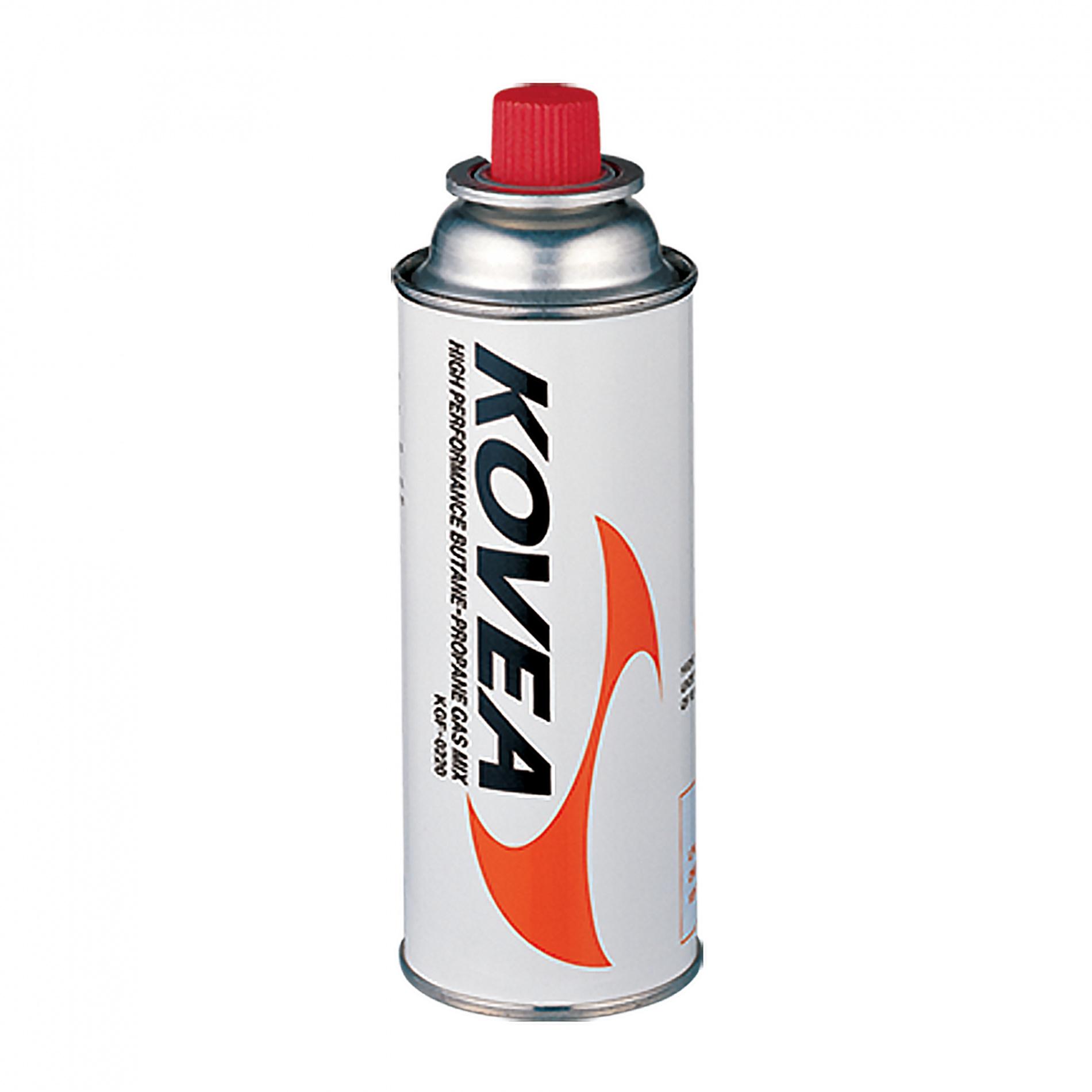 Баллон газовый Kovea 220 (бутан/пропан 70/30)Баллоны<br>Газовый картридж. Баллон наполнен высокопроизводительной <br>газовой пропановой смесью составом: Пропан <br>30%, Бутан 70%. Возможно использование со всеми <br>типами газовых приборов KOVEA и приборами <br>других производителей с аналогичным стадартом. <br>Баллон устанавливается напрямую или через <br>переходники KA-0103 Cobra и КА-9504.<br>