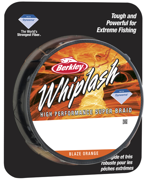 Леска плетеная BERKLEY WHIPLASH 0.06mm (110m)(10.6kg)(оранжевая)Леска плетеная<br>Исключительно прочный шнур идеально подойдет <br>рыболовам, которым нужен действительно <br>прочный шнур. Троллинг, глубоководная ловля <br>на джиг, ловля крупных сомов, карпов – везде <br>можно использовать шнур Whiplash.<br>