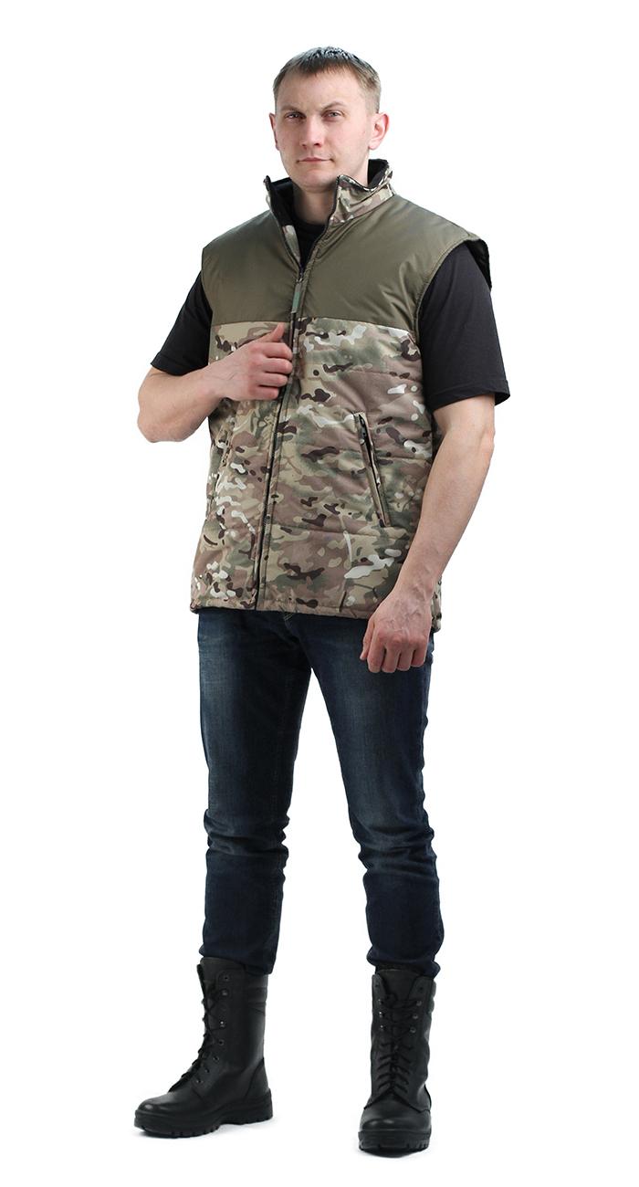 Жилет утепленный Nordwig-Rapid кмф цифра, тк Жилеты утепленные<br>Камуфлированный унверсальный летний костюм <br>для охоты, рыбалки и активного отдыха . Состоит <br>из куртки с капюшоном и брюк. Куртка: • Регулируемый <br>капюшон. • Центральная застежка молния. <br>• Боковые и нагрудный прорезные карманы <br>на молнии. • Низ куртки и манжеты на резинке. <br>Брюки: • Два врезных кармана и два накладных <br>на молнии. • Пояс и низ брюк на резинке.<br><br>Пол: унисекс<br>Размер: 40-42<br>Сезон: межсезонье
