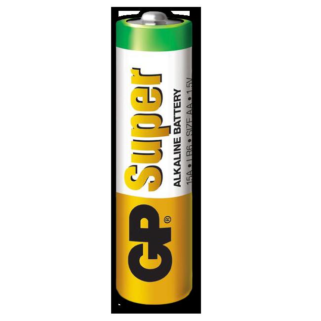 Батарея Питания GP АА AlkalineАксессуары к фонарям<br>Описание батареи питания GP AA: Щелочная <br>батарея питания Super Alkaline стандарта AA от <br>азиатской многонациональной компании GP <br>Batteries. Данная серия батарей отличается повышенной <br>емкостью (2700 мАч), которая в несколько раз <br>превышает емкость стандартных солевых <br>источников питания. Также батареи питания <br>Super Alkaline имеют большой срок хранения (около <br>7 лет). Батареи данной серии рекомендуется <br>использовать в электрических приборах <br>с повышенным потреблением электроэнергии. <br>Напряжение батареи составляет 1,5 вольта. <br>Источники питания GP Super Alkaline AA не содержат <br>ртути и кадмия.<br>