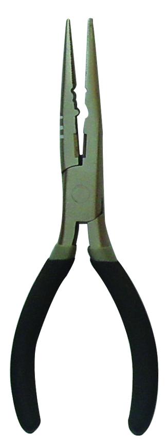 Плоскогубцы рыбацкие SWD 18см (7505102)Инструменты рыболовные<br>Многофункциональные пассатижи служат <br>для освобождения крючков из пасти хищной <br>рыбы, обжимки грузил. Имеют режущюю кромку <br>и могут использоваться как заменитель ножниц <br>или кусачек при обрезании лески или шнура. <br>Изготовлены из высококачественной стали <br>со специальным антикоррозийным покрытием. <br>Ручки с пластиковыми накладками препятствуют <br>соскальзыванию рук. Длина 18см.<br>