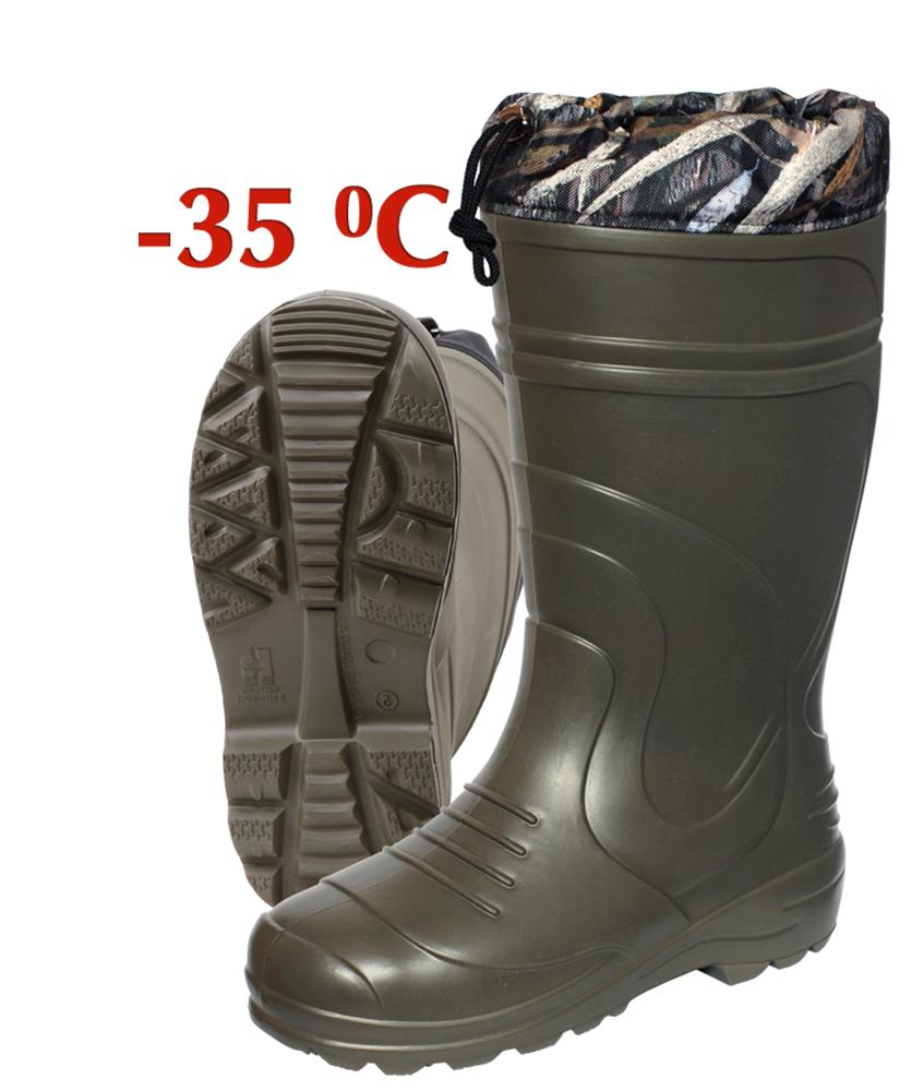 Сапоги зимние Haski-light ЭВА С093 (-35С) олива/черные Сапоги для активного отдыха<br>Сапог скомплектован вкладным трехслойным <br>утепляющим чулком с эластичной тесьмой, <br>фиксирующей изделие на ноге. Манжета сапога <br>(Оксфорд 600) фиксируется на ноге с помощью <br>шнура и стопора. Упаковка: индивидуальная <br>коробка и групповая упаковка по 4 пары одного <br>размера<br><br>Пол: мужской<br>Размер: 44-45<br>Сезон: зима<br>Цвет: оливковый<br>Материал: полимеры