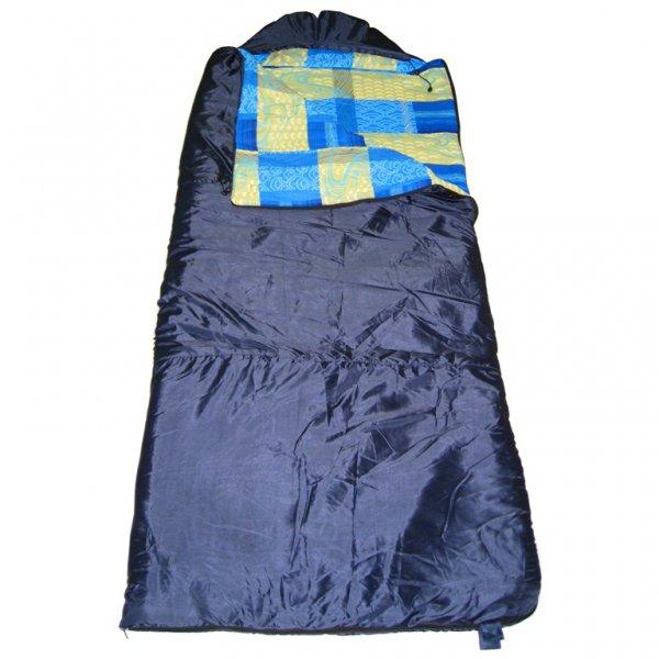 Спальный мешок БАТЫР XXL СОШ-4 (220*90) синий Спальники<br>Спальник мешок БАТЫР XXL СОШ-4 - большой спальный <br>мешок-одеяло для прохладной погоды. Размер <br>220*90 см. Материал внешний: Taffeta 190T. Цвет: синий. <br>Внутренний материал: бязь. Утеплитель: Синтепон <br>(4 слоя). t комфорта: - 2С +12С. t экстрима: - 10 <br>С. Вес - 2,4кг. Разъемная молния, позволяющая <br>соединять 2 спальника вместе. Шнуры с фиксаторами <br>для регулировки капюшона. Боковая застежка <br>на липучке. Петли для подвешивания спальника <br>во время просушки. Упаковочный чехол с ручкой <br>для переноски.<br><br>Сезон: зима