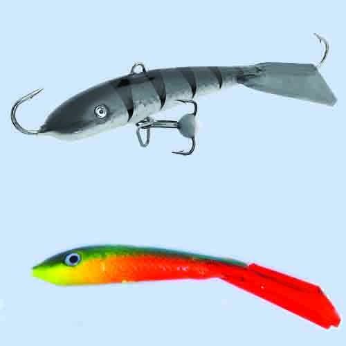 Балансир Lucky John Fin 5 + Тр. 70Мм/26Rt БлистерБалансиры<br>Балансир Lucky John FIN 5 + тр. 70мм/26RT блистер расцв.26RT/р.тр.12/вес <br>20г/инд.уп. Популярный у рыболовов балансир, <br>для ловли крупного окуня, берша, судака <br>и щуки длиной 70 мм. Для ловли судака его <br>с успехом мож но исполь зовать на глубинах <br>до 13 м, если на водоеме нет течения. Для ловли <br>крупного окуня рекомендует- ся использовать <br>монофильную леску диаметром от 0,18 до 0, 25 <br>мм, (для ловли судака и щуки до 0,30 мм) или <br>плетеный шнур 0,11–0,15 мм.<br><br>Сезон: зима