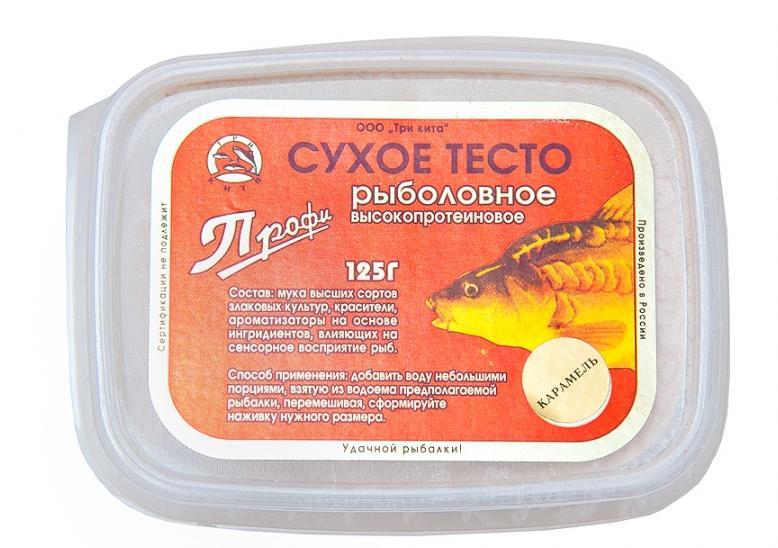 Тесто сухое ПРОФИ, ваниль 100гНасадки<br>Необходимо добавлять воду небольшими порциями, <br>взятую из водоема предпологаемой рыбалки, <br>перемешивая, сформировать наживку нужного <br>размера.<br>