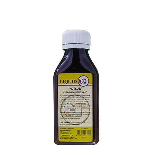 АроматизаторGfLiquidМотыль0.100ЛАроматизаторы<br>АроматизаторGFLIQUIDМотыль0.100л Мотыль/100мл <br>Производится на основе Кукурузной Мелласы <br>с добавлением ароматизаторов изготовленных <br>во Франции, кукурузного глютена, аминокислоты <br>Бетаин и кукурузного сиропа. А также ряда <br>химических элементов, стимулирующих аппетит <br>рыбы. Имеют различные ароматы. На сегодняшний <br>день зарекомендовали себя как чрезвычайно <br>рабочие жидкости в средней полосе России. <br>Способ применения: замешать необходимое <br>количество прикормки с экстрактом, из расчета <br>10 мл на 0,5 кг прикормки, использовать по <br>назначению.<br><br>Сезон: лето