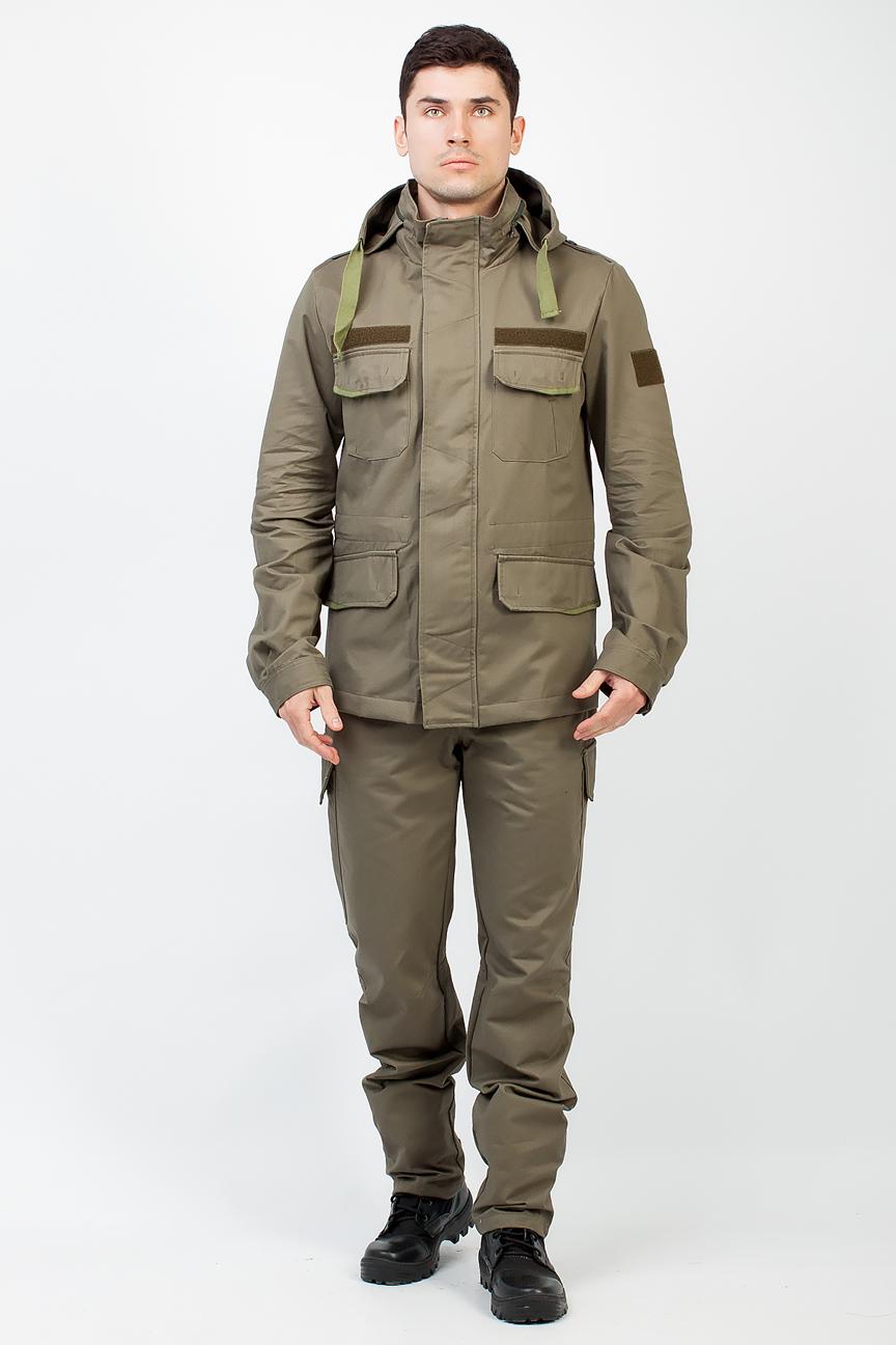 Костюм Keeper (Хлопок/Зеленый) TRITON (56-58/182-188)Костюмы неутепленные<br>добный универсальный костюмKeeper, состоит <br>из куртки и брюк. Легкий не стесняющий движения, <br>изготовленный из качественного материала <br>со 100% хлопком и с поверхностной плотностью <br>245 г/м2. Такая ткань крепкая, с хорошей степенью <br>воздухопроницаемостью, гарантированно <br>обеспечит максимум комфорта при занятии <br>любимым увлечением. Цвет и рисунок ткани <br>несут защитную функцию. Костюм среднего <br>объёма. Куртка: 1) Куртка среднейй длинны; <br>2) У куртки центральная застёжка-молния <br>закрытая ветрозащитной планкой с потайными <br>пуговицами; 3) 4 кармана; 4) Съёмный капюшон <br>съемный и регулируется по объёму шнурком <br>с фиксаторами; 5) Анотомический крой рукава; <br>6) По талии и низу куртки имеются внутренние <br>кулисы с регулировкой объёма шнурком; 7) <br>Погоны на плечах; 8) Низ рукава регулируется <br>по объёму хлястиком с контактной лентой; <br>Брюки Брюки: 1) Брюки с поясом и шлёвками <br>для ношения ремня; 2) В поясе имеется потайнная <br>регулировка ширины талии; 3) Застёжка-гульфик <br>на молнии с пуговицей; 4) Низ брюк регулируется <br>хлястиком с контактной лентой; 5) 10 карманов. <br><br><br>Пол: мужской<br>Размер: 56-58<br>Рост: 182-188<br>Сезон: демисезонный<br>Цвет: оливковый
