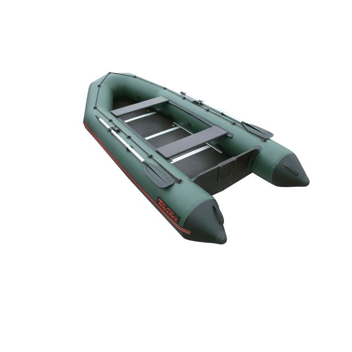Лодка ПВХ Тайга-340 Киль (под мотор 15 л.с.)(2 Моторные или под мотор<br>Лодка ТАЙГА-340 Киль – надувная моторная <br>лодка с килем, совмещающая в себе возможности <br>гребных и моторных. Киль - для придания лодке <br>курсовой устойчивости. У такой лодки имеется <br>жестко вклеенный (стационарный) транец <br>из морской фанеры, толщиной 18 мм. Тайга Т-340 <br>имеет жёсткий пол с боковым усилением стрингерами. <br>Лодка упаковывается в 2 сумки и в упакованном <br>виде легко размещается в багажнике автомобиля <br>вместе с подвесным мотором. - Лодка «ТАЙГА» <br>состоит из одного замкнутого баллона, разделенного <br>перегородками на 2 отсека, что позволит <br>лодке остаться на плаву даже при случайном <br>проколе баллона. - Корпус лодки «ТАЙГА» <br>изготавливается из 5-ти слойной ткани ПВХ <br>корейского производства MIRASOL, являющейся <br>одной из лучших на рынке. Используется ткань <br>плотностью 750 г/м.кв. Реальный срок службы <br>лодки из ПВХ составляет больше 15 лет. Лодки <br>из ПВХ не требуют специальной обработки <br>после использования и на период хранения. <br>- швы лодки соединены современным методом <br>«горячей сварки». Ткань соединяется встык, <br>с проклейкой с двух сторон лентами из основного <br>материала шириной 4 см на специальной машине. <br>Для склейки применяется клей на полиуретановой <br>основе, который, вступая в химический контакт <br>с материалом склеиваемых поверхностей, <br>соединяется с тканью на молекулярном уровне <br>и получается единое полотно. - раскрой материала <br>для лодок «ТАЙГА» производится с использованием <br>современной вычислительной техники, в результате <br>чего человеческий фактор сведен к минимуму, <br>что гарантирует идеальную геометрию лодки <br>и исключает возможность брака. - по бортам <br>внутри корпуса для банок установлена система <br>«Ликтрос - Ликпаз», основным преимуществом <br>которой является подвижность. что позволяет <br>удобно разместится в лодке людям разной <br>весовой категории. Банки изготовлены из <b
