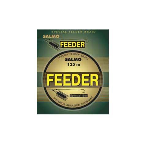 """Леска Плетеная Salmo Feeder 125/017Леска плетеная<br>Леска плет. Salmo FEEDER 125/017 дл.125м/диам. 0.17мм/тест <br>9.60кг/инд. уп. Плетёная леска SALMO FEEDER разработана <br>для ловли на фидер. Она изготовлена из волокна <br>SPECTRA (USA), имеет круглое сечение и отлично <br>скользит сквозь кольца, позволяя добиться <br>выигрыша в несколько дополнительных метров, <br>чтобы доставить приманку точно в то место, <br>где кормится рыба. Благодаря специальной <br>пропитке, она намного быстрее тонет, чем <br>обычные плетеные лески, сводя к минимуму <br>смещение оснастки и позволяя максимально <br>быстро начать контролировать приманку. <br>Коричневая расцветка делает ее максимально <br>незаметной для осторожной рыбы. Плетёная <br>леска SALMO FEEDER имеет высокую износостойкость <br>и прослужит не один сезон. • круглое сечение <br>• """"скользкая"""" поверхность • высокая прочность <br>• специальная пропитка • увеличенная чувствительность <br>• высокая износостойкость • камуфлирующая <br>расцветка<br><br>Цвет: камуфляжный"""