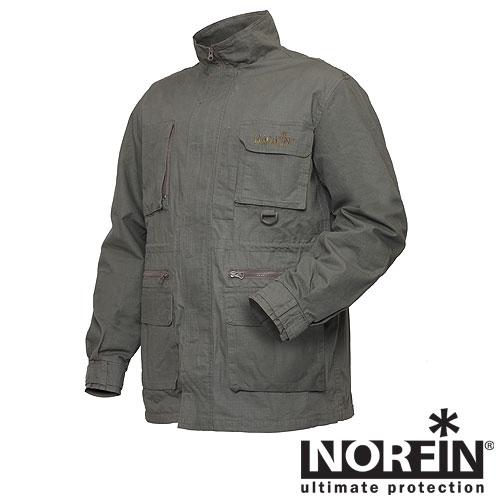 Куртка Norfin Nature Pro (XXL, 645005-XXL)Куртки неутепленные<br>Куртка сшита из прочного, натурального <br>материала, который очень комфортен для <br>тела. Отличается свободным кроем, легкостью, <br>удобством в носке. Хорошо подойдет для рыбалки <br>и охоты в летний период. Особенности: - натуральный <br>материал; - подкладка из сетки; - регулируемые <br>манжеты на липучке; - 6 карманов; - регулируемый <br>капюшон; - застегивается на молнию с ветрозащитной <br>планкой; - высокий воротник; - D-кольцо для <br>крепления снаряжения или инструмента; - <br>фиксатор, стягивающий низ талии.<br><br>Пол: мужской<br>Размер: XXL<br>Сезон: лето<br>Цвет: серый<br>Материал: текстиль