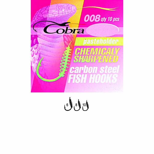 Крючки Cobra Pasteholder Сер.008Nsb Разм.008 10Шт. C008NSB-008