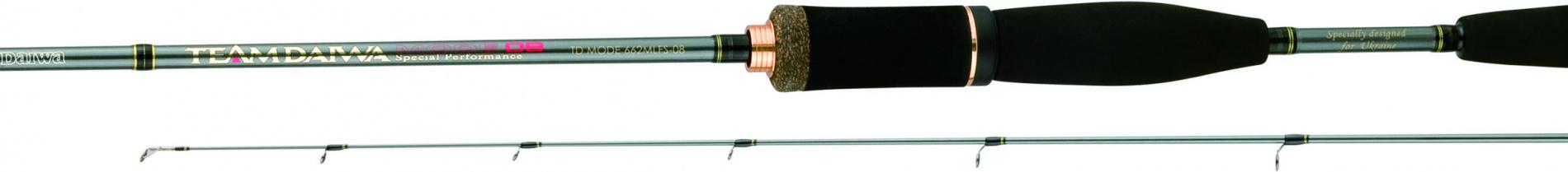Спиннинг штек. DAIWA Team Daiwa Mode TDM E 602 MFB OH 1,83м Спинниги<br>» Обновленная серия удилищ TD-MODE » Бланки <br>из высококачественного графита » Пропускные <br>кольца Fuji SiC » Оригинальный фиксатор для <br>крючка Fuji » Рукоятка из долговечного материала <br>EVA » Оригинальная двухкурковая рукоятка <br>Daiwa на кастинговых моделях<br>