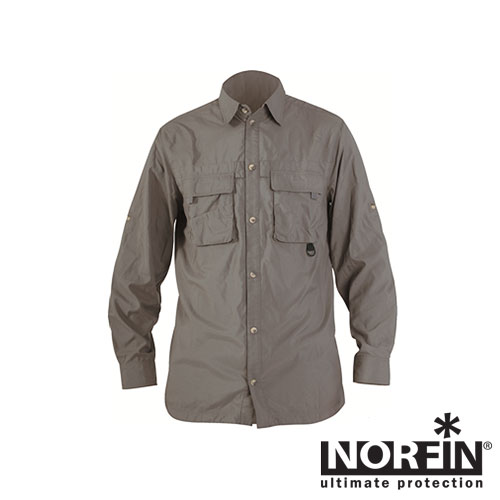 Рубашка Norfin Cool Long Sleeves Gray