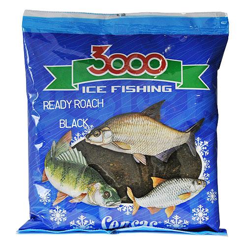 Прикормка Зим. Готовая Sensas 3000 Roach Black 0.5Кг 01072