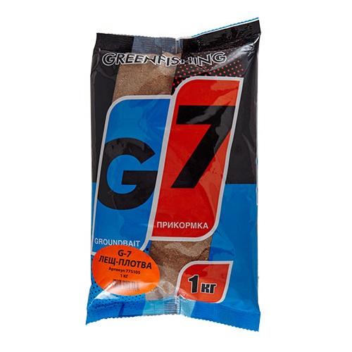 Прикормка Gf G-7 Лещ-Плотва 1КгПрикормки<br>Прикормка GF G-7 ЛЕЩ-ПЛОТВА 1кг пакет 1кг/ароматика:специальная/цвет:светлый/кратн. <br>короба 16шт. «G-7» - Новая линия недорогих <br>и качественных ароматизированных прикормов, <br>имеет сбалансированный состав, отличную <br>ароматизацию и самые популярные у рыболовов <br>ароматы. Идеально подходит для использования <br>на не запрессованных водоемах, где не имеет <br>смысла переплачивать за дорогие добавки <br>и ингредиенты. Рекомендуется использовать <br>как отличное дополнение к «старшим» сериям, <br>таким как GF, Salapin, Prime и Energy.<br><br>Сезон: лето